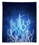 Circuit Board Technology Fleece Blanket