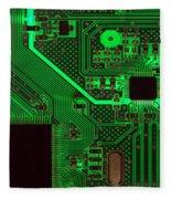 Circuitry Fleece Blanket