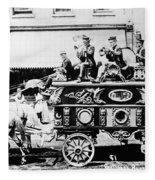 Circus Bandwagon, 1900 Fleece Blanket
