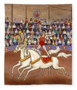 Circus Bareback Riders Fleece Blanket