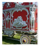 Circus Car In Red And Silver Fleece Blanket