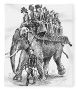 Circus: Elephant, C1901 Fleece Blanket