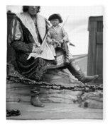Circus Giant And Harry Doll Fleece Blanket