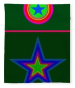 Circus Green Fleece Blanket