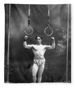 Circus Strongman, 1885 Fleece Blanket