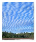 Cirrocumulus Clouds Over Mt. Mclaughlin Fleece Blanket