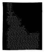 Cities And Towns In Idaho White Fleece Blanket