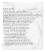 Cities And Towns In Minnesota Black Fleece Blanket