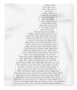 Cities And Towns In New Hampshire Black Fleece Blanket
