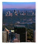 Cities Of Atlanta Fleece Blanket