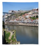 Cities Of Porto And Gaia In Portugal Fleece Blanket