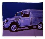 Citroen 2cv Azu 1957 Painting Fleece Blanket