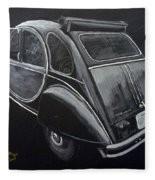 Citroen 2cv Charleston Fleece Blanket