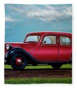 Citroen Traction Avant 1934 Painting Fleece Blanket