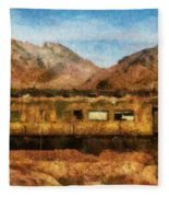 City - Arizona - Desert Train Fleece Blanket