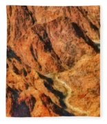 City - Arizona - Grand Canyon - A Look Into The Abyss Fleece Blanket