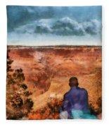 City - Arizona - Grand Canyon - The Vista Fleece Blanket