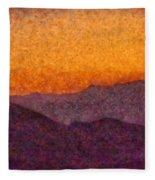 City - Arizona - Rolling Hills Fleece Blanket