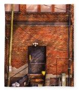 City - Door - The Back Door  Fleece Blanket