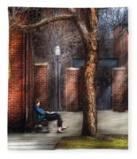 City - Newark Nj - Always Waiting  Fleece Blanket