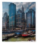 City - Ny - The New City Fleece Blanket