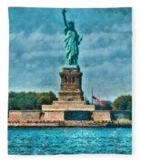 City - Ny - The Statue Of Liberty Fleece Blanket