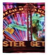 City - Vegas - Ny - The Bar At Times Square Fleece Blanket