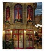 City - Vegas - Paris - Le Cafe Fleece Blanket