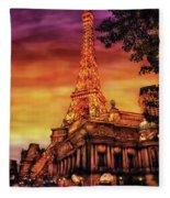 City - Vegas - Paris - The Paris Hotel Fleece Blanket