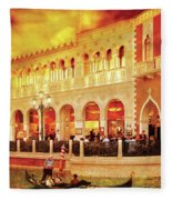 City - Vegas - Venetian - Life At The Palazzo Fleece Blanket