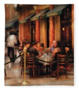 City - Venetian - Dining At The Palazzo Fleece Blanket