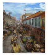 City - Baltimore Md - Traffic On Light Street - 1906 Fleece Blanket