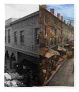 City - Baltimore Md - Traffic On Light Street - 1906 - Side By Side Fleece Blanket