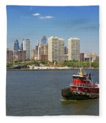 City - Camden Nj - The City Of Philadelphia Fleece Blanket