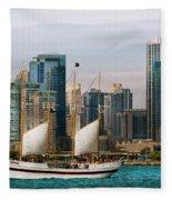 City - Chicago - Cruising In Chicago Fleece Blanket