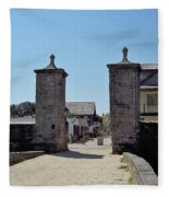 City Gate Of St Augustine Fleece Blanket