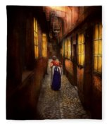 City - Germany - Alley - A Long Hard Life 1904 Fleece Blanket