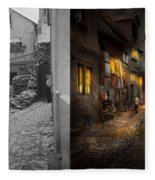City - Germany - Alley - Coming Home Late 1904 - Side By Side Fleece Blanket
