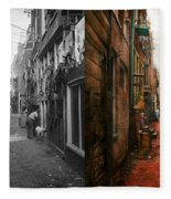 City - Germany - Alley - The Other Half 1904 - Side By Side Fleece Blanket