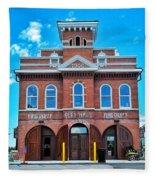 City Hall And Fire Department Fleece Blanket