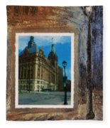 City Hall And Street Lamp Fleece Blanket