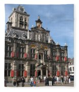 City Hall - Delft - Netherlands Fleece Blanket