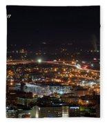 City Lights Over Bham, Al Fleece Blanket