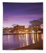 City Lights Reflections Fleece Blanket