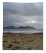 City Lost To The Sea Fleece Blanket