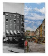 City - New York Ny - Fraunce's Tavern 1890 - Side By Side Fleece Blanket