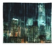 City Night Lights Fleece Blanket
