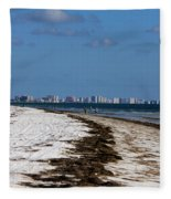 City Of Clearwater Skyline Fleece Blanket