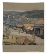 City Of Constantine Algeria 1907 Kuzma Sergeevich Petrov-vodkin Fleece Blanket