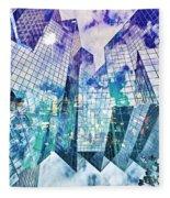 City Of Glass Fleece Blanket